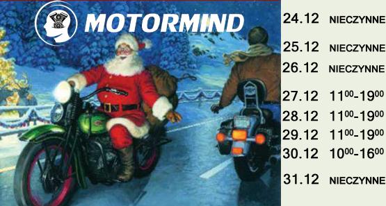 Godziny otwarcia sklepu motocyklowego motormind