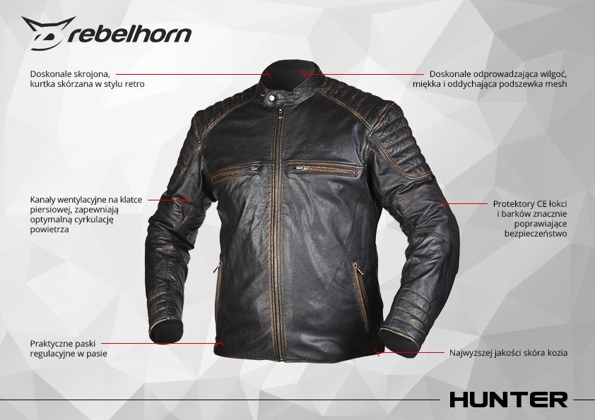 funkcje kurtki motocyklowej rebelhorn runner