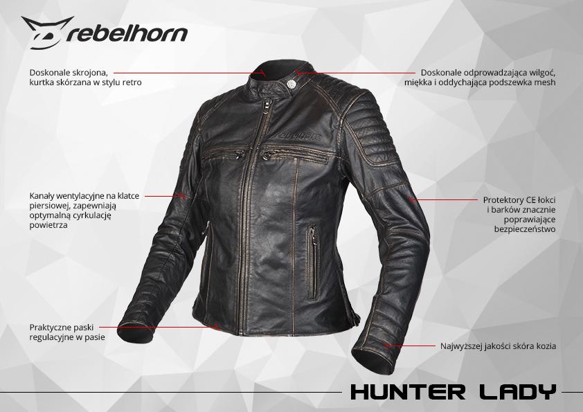 funkcje kurtki motocyklowej rebelhorn hunter lady
