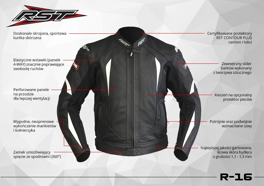 kurtka motocyklowa r-16 funkcje